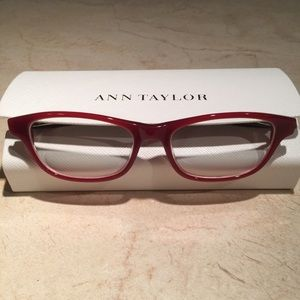Ann Taylor Petite Red Glasses and Case